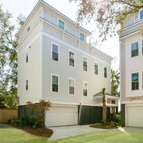 Blue exterior home, Charleston coast, custom home, custom builder