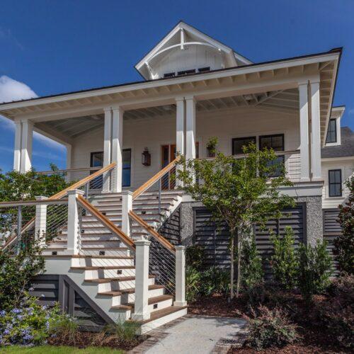 2 story craftsman home, custom home builder, front entrance, coastal home